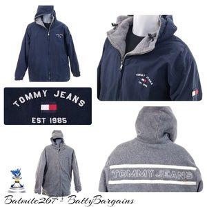 Tommy Hilfiger Jackets & Coats - Med VTG Reversible FLAG Spell Out Jacket 80s 90s